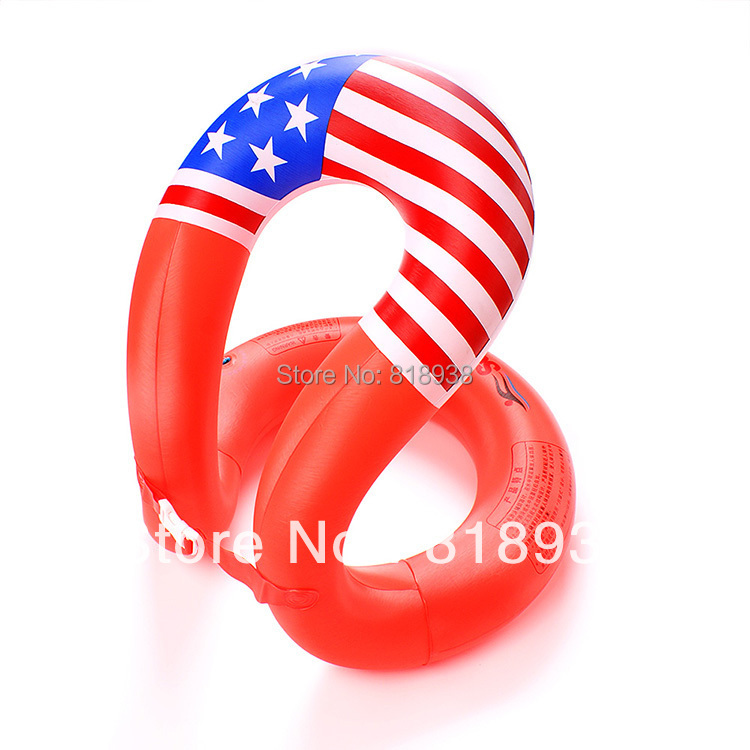 2014 Direct Selling Seconds Kill Swimming Lok Po Three Generations Like A Duck S Swim Ring Life Buoy Red Color Flag Pattern(China (Mainland))