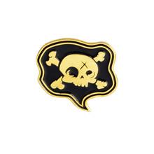 Halloween Hitam Gelap Peti Mati Tengkorak Kemudi Battle AX Bros Tombol Punk Emas Perak Enamel Kerah Pin Lencana Gothic Perhiasan Hadiah(China)