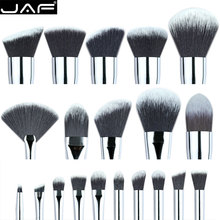 JAF Custom Makeup Brush Set DIY Synthetic make up brush kit foundation brush eye shadow fan brushes eyeshadow(China (Mainland))