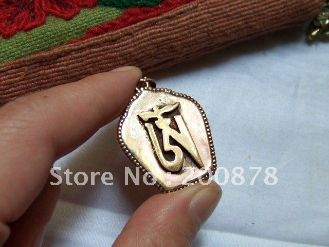 TGB110 Tibetan brass Tower OM Prayer box,GAU amulet pendant,30*25mm(China (Mainland))