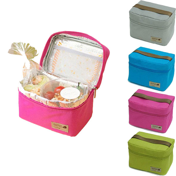 Good Quality Thermal MINI Lunch Bags Unique Design Waterproof Travel Picnic Necessories Cooler lunch box Bags Size:17*11*12cm(China (Mainland))