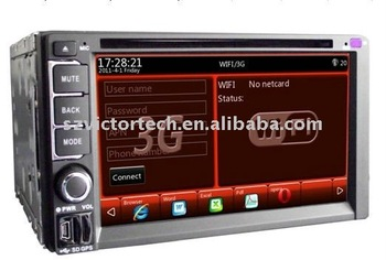 """6.2"""" double din car Multimedia system support GPS DTV and WIFI built in"""