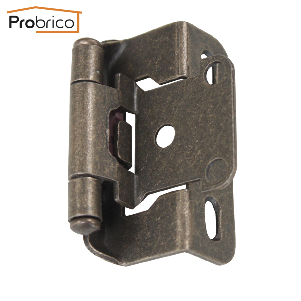 Probrico Self Close Kitchen Cabinet Hinges Antique Bronze CH196AB Partial Wrap 1/2-Inch Overlay Furniture Cupboard Door Hinge(China (Mainland))