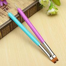 Hot Selling NEW 2-Ways Nail Art Pen Painting Dotting Acrylic UV Gel Polish Brush Liners Tool 5W4S 7GXO(China (Mainland))