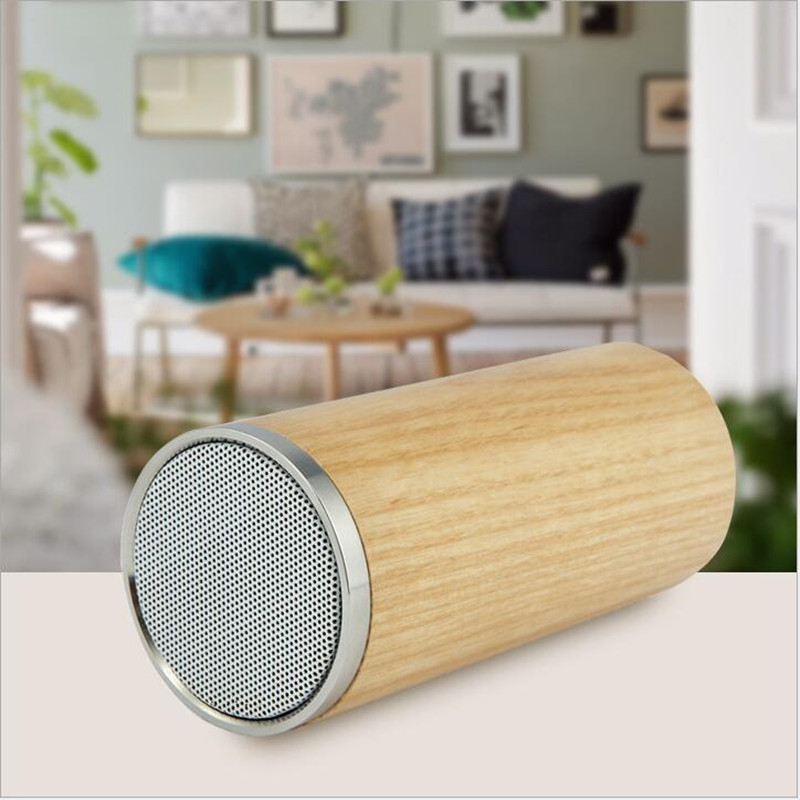 Mini Wireless Wood Speaker Samsung Portable Stereo 3D Sound Box iPhobe Audio Subwoofer Bamboo iPad PC HTC