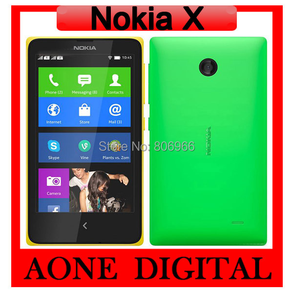 Original Unlocked Nokia X Dual SIM RM-980 Dual Core 4.0 inch 3.15Mp Refurbished Android Smart Cell Phone Free Shipping(China (Mainland))