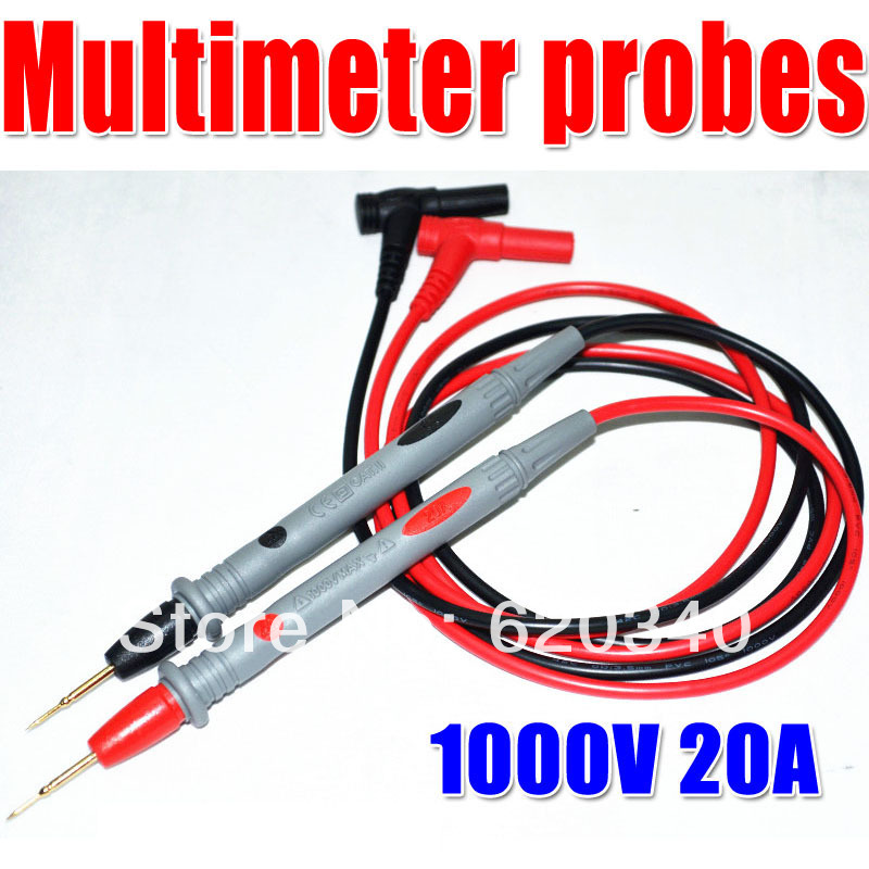 2 pair 4pcs /1000V 20A Universal probe 42 cooper wires Test Lead Wire Probe Cable for Multimeter free shipping(China (Mainland))