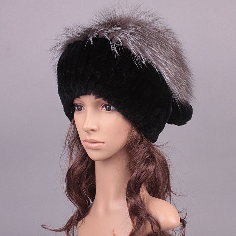 Factory wholesale charm warm fur hat Rabbit fur ear fur fox fur hat knitted millinery millinery Korea от Aliexpress INT