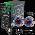 Car Bi Xenon HID Projector Lens Kit with Double angel eyes include HID bulb For car