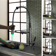 Buy BECOLA Pull water basin mixer tap Chrome plated cold hot water faucet LED kitchen faucet Free LH-8091 for $120.45 in AliExpress store