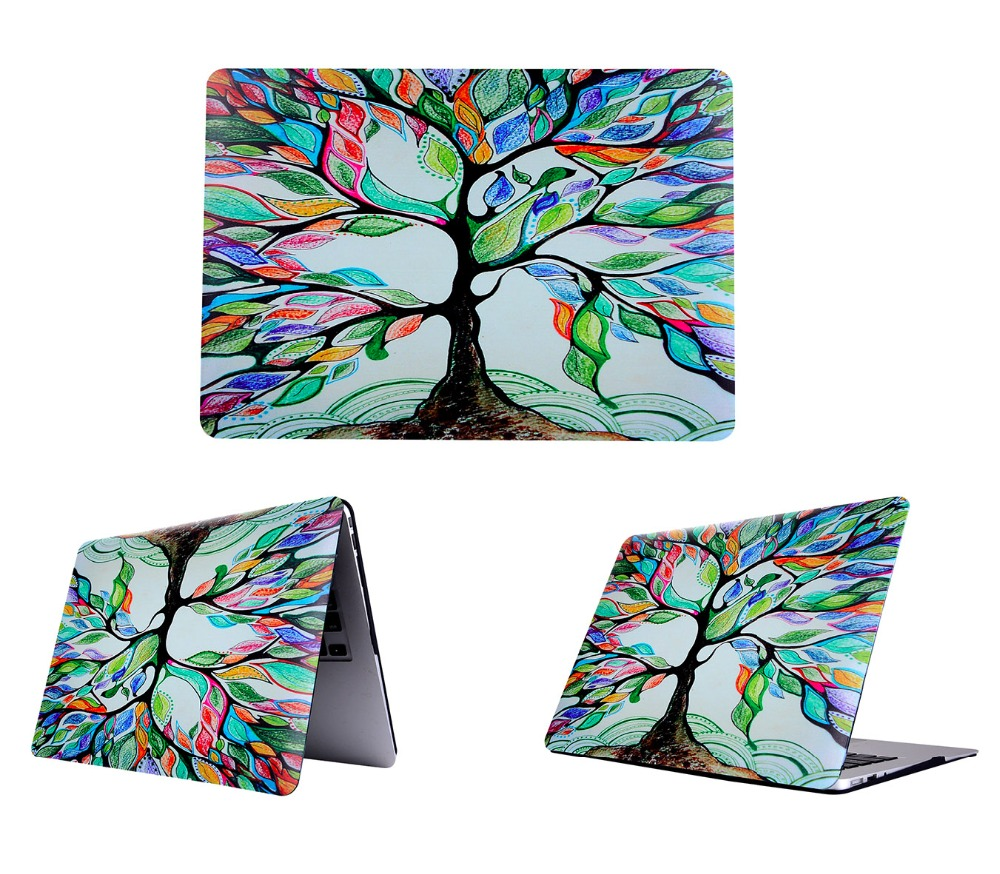 Hot Sale Laptop Case For Macbook Hard PC Cover Color Tree Painting Case Notebook Protector Shell for Macbook Air Pro Retina(China (Mainland))