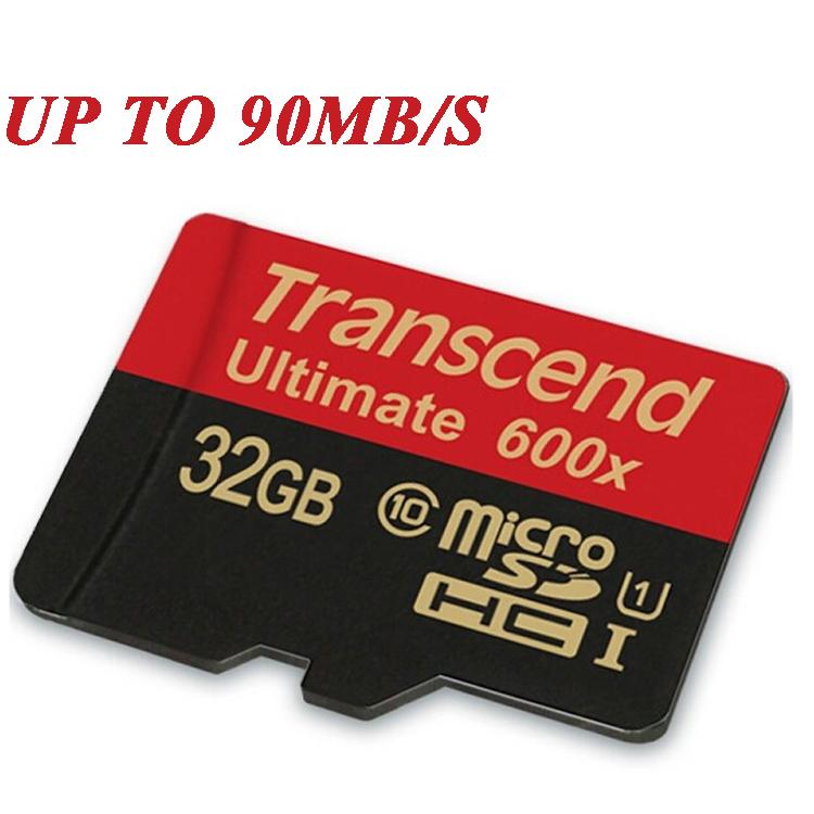 Transcend Sealed Real 600X 16GB 32GB MicroSD MicroSDHC MicroSDXC Micro SD SDHC SDXC Card 90MB/S class 10 UHS-1 TF Memory Card(China (Mainland))