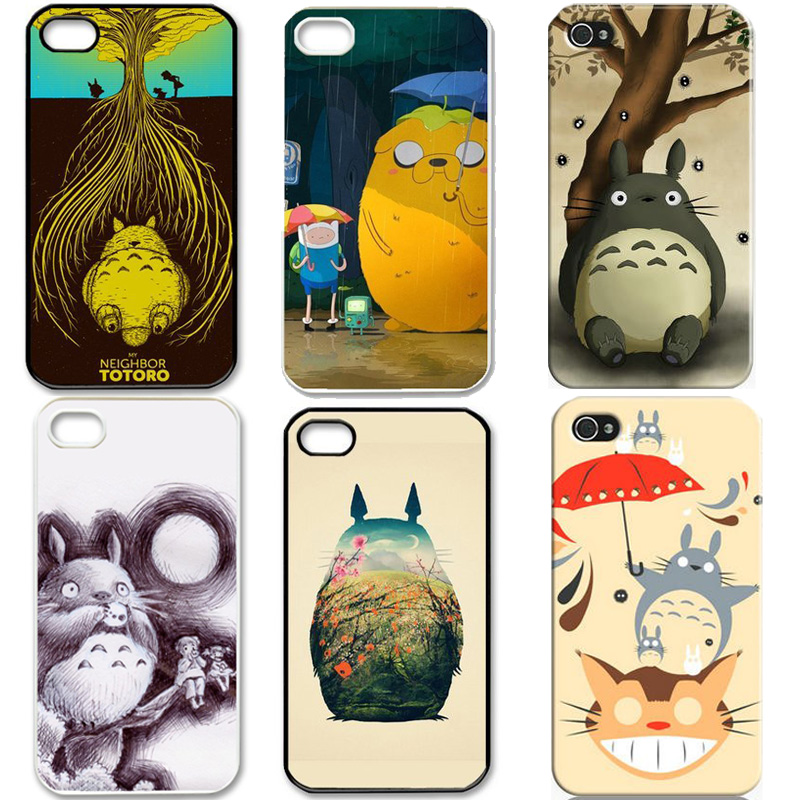 6pcs/lot Funny Neighborhood Totoro Friends Umbrella Unique durable Best Case for iPhone 4 4s(China (Mainland))