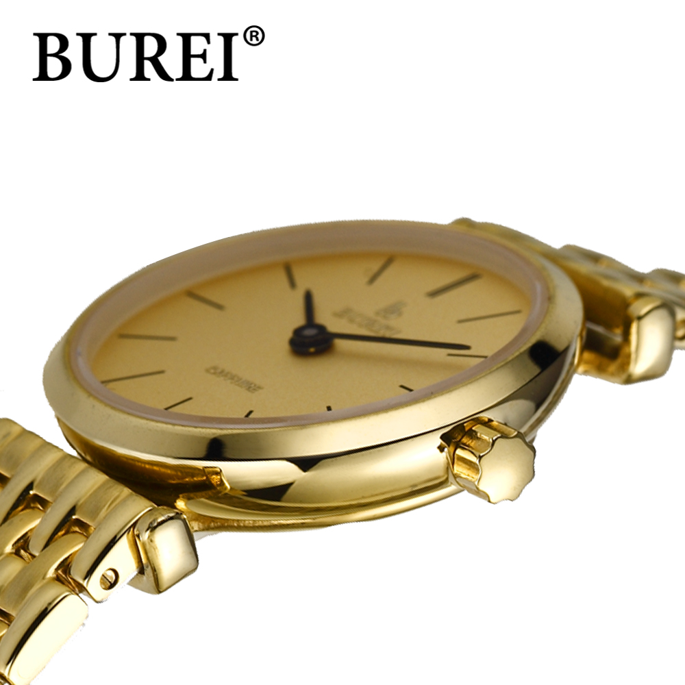 Фотография BUREI 2016 NEW casual sapphire mirror scratch resistant women stainless steel watch waterproof & shock resistant female watch