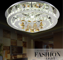 AC100-240V 12w+18w+24w three segment remote control 55*15cm LED Crystal Chandelier moon heart circle Home Lighting fixtures(China (Mainland))