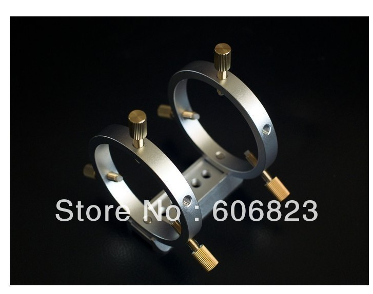 New Telescope Finder Guider Tube Rings with dovetail mounting plate Dia.60mm(China (Mainland))