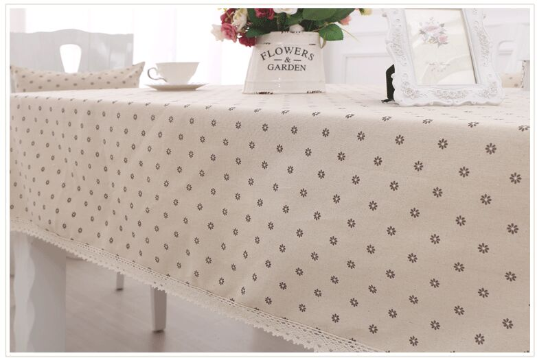 New arrival Pastoral style Dust cloth Cover cloth a small crown linen cotton table cloth Universal fabric tablecloth hot sale(China (Mainland))