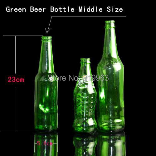 2014 Hot Bomb Bottle Breaking Green/White (Beer Bottle) 23cm (Middle Size 1piece) - Magic Tricks,Mentalism Magic Props,Stage(China (Mainland))