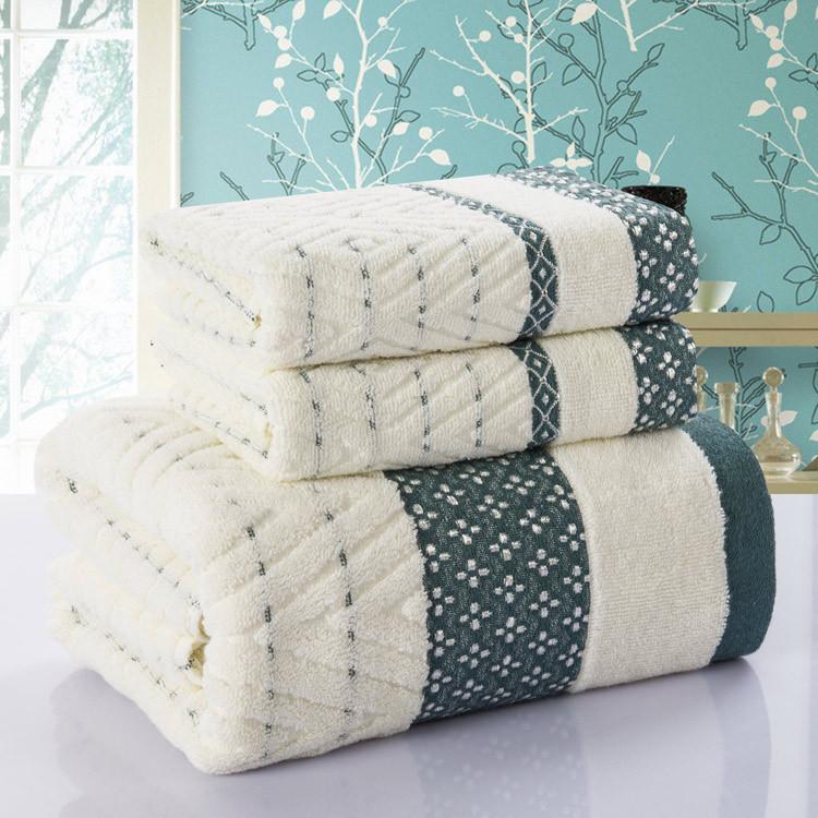 3PCS Bathroom Towel Set 100% Cotton Hotel Towels Beach Towel Bath Sports Golf Face Gym Hand guest Towel Spa Towels toalla playa(China (Mainland))