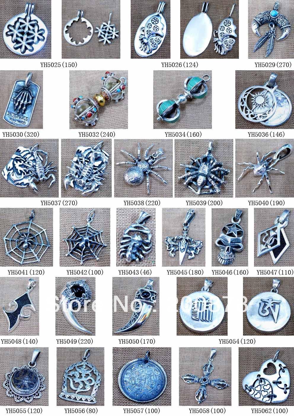 Здесь можно купить  MW-19 Wholesale Nepal Handmade 925 Sterling Silver Vintage Charms,Tibetan Buddhist Amulet Pendants,20pcs lot,Free ship  Ювелирные изделия и часы