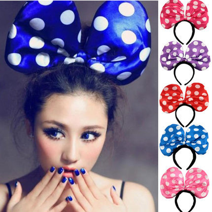 Fashion headband party jewelry hair bald oversized bow headband luminous bow-knot cute hair bands(China (Mainland))