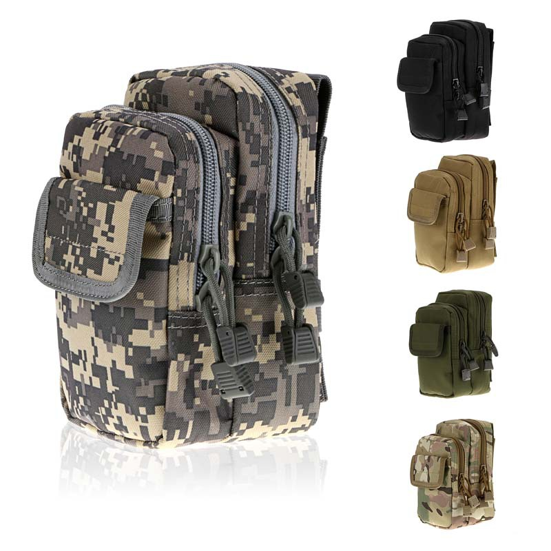 Canvas Ripstop Multi-Pocket Waist Bag Tactical Army Military Bag for Outdoor Hiking sports