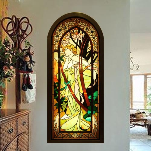Stained Glass Patterns Wall Sconces : Custom art glass wall slides stained glass wall decorative pattern beautiful European wall ...