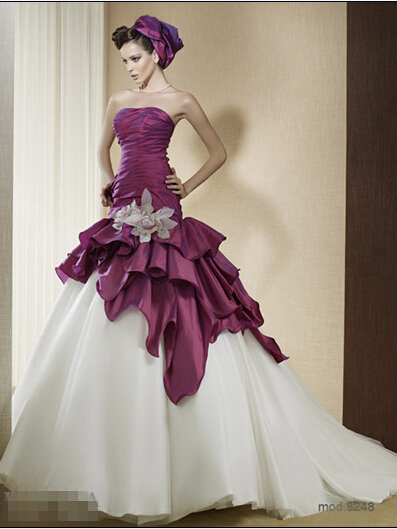 Popular two toned wedding dresses buy cheap two toned for Where to buy non traditional wedding dress