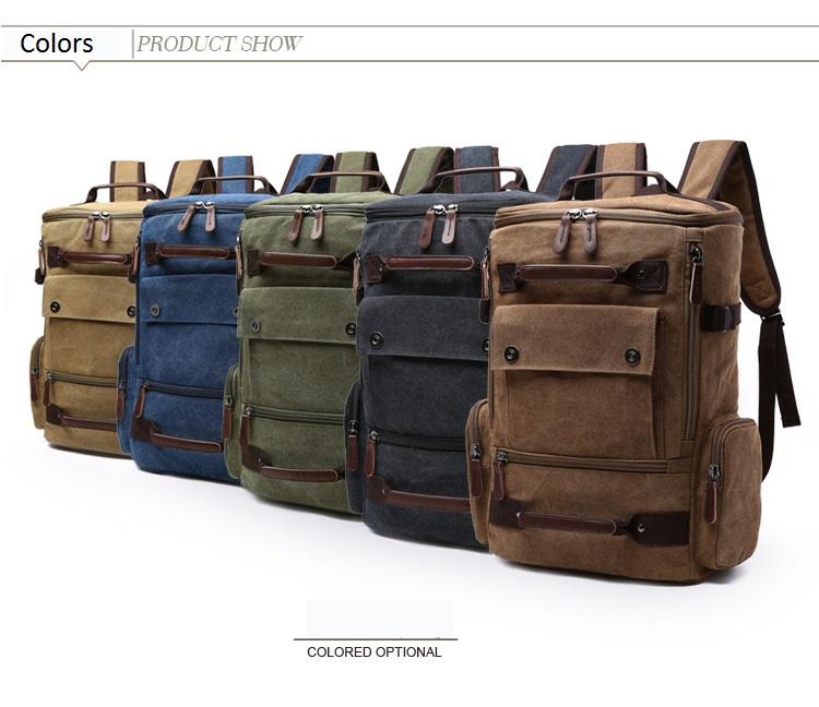 4448b1ff1c2 Canvas Backpack Men Solid Travel Bags Mochila Masculina Bolsa School Bag  Material Escolar Laptop Notebook Backpacks Rucksack