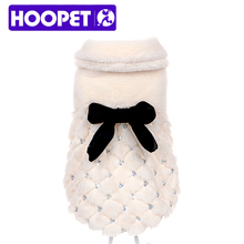 HOOPET pet clothes elegant Luxury fur Winter overcoat samll dog cat clothes bowknot Chihuahua(China (Mainland))
