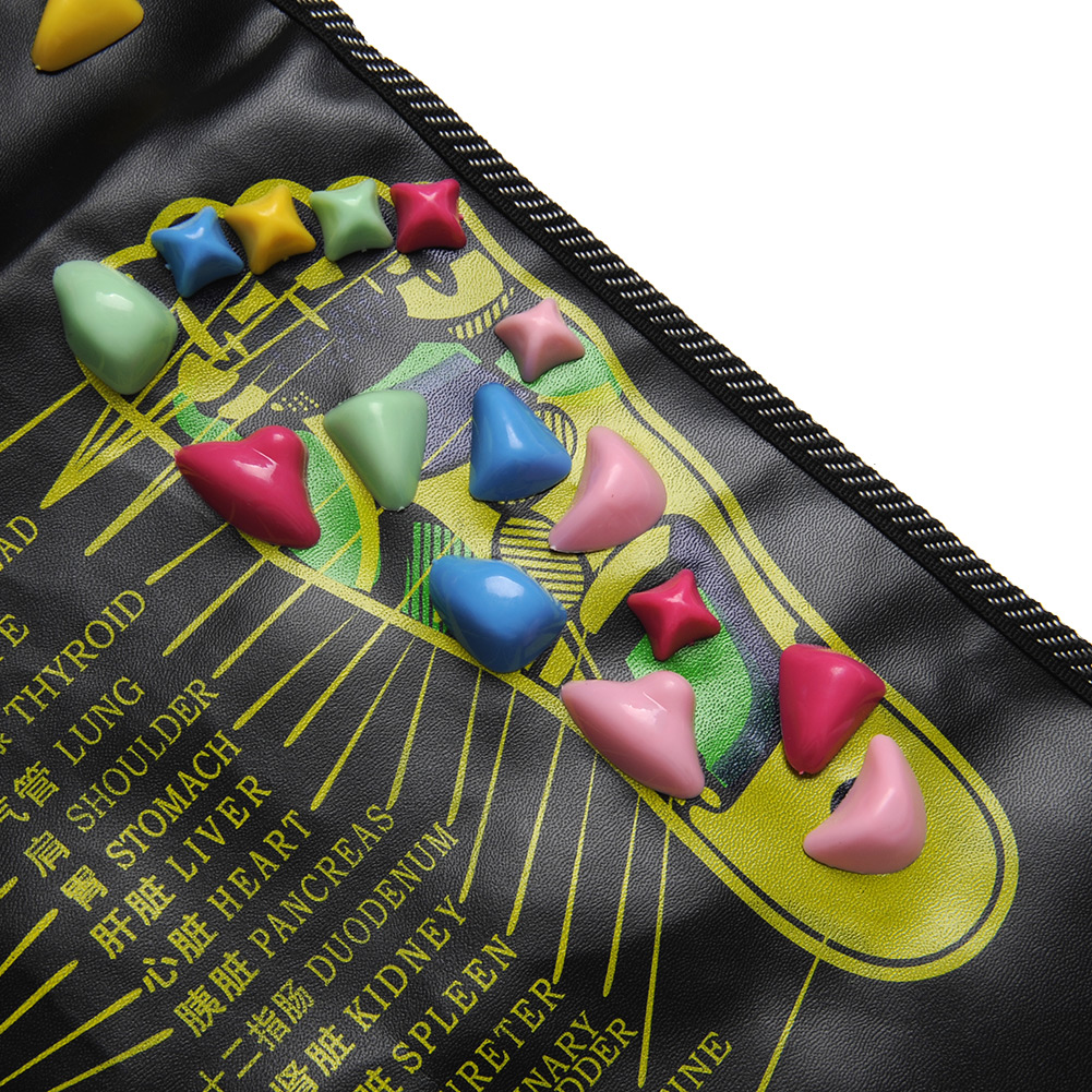 New Reflexology Walk Cobblestone Pain Relief Foot Leg Massager Acupoint Massge Mat Pad Acupressure Gift(China (Mainland))