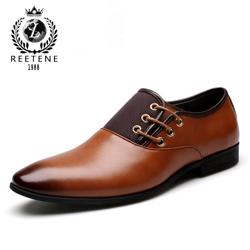 Plus Size 38-47 Fashion Leather Men Oxford, Casual Simple Men Dress Shoes, High Quality Genuine Leather Oxford Shoes For Men