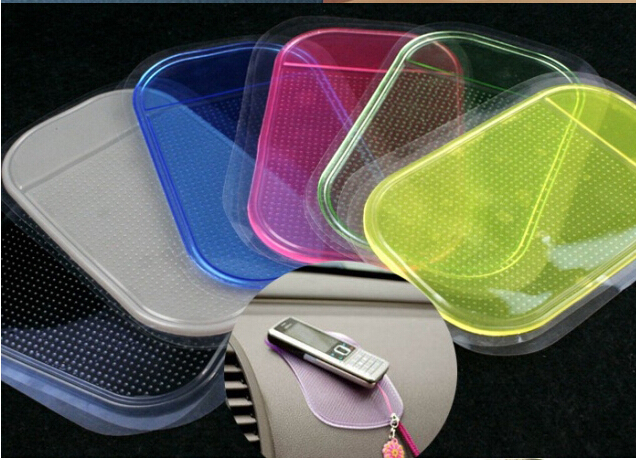 Wholesale 5pcs/lot Car Anti-Slip Non-slip Mat Cell Phone Key Holder Car Dashboard Sticky Pad(China (Mainland))