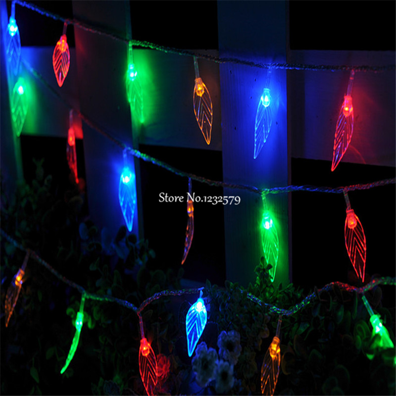 3M 30 LED Leaf Fairy String Lights Tree Leaves Battery Operated Xmas Christmas Garland Wedding Party luces decorativas(China (Mainland))