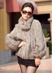 Genuine mink fur coat women's knitted mink fur jacket winter luxury mink fur coat big wholesale / retail Free shipping TF0341(China (Mainland))