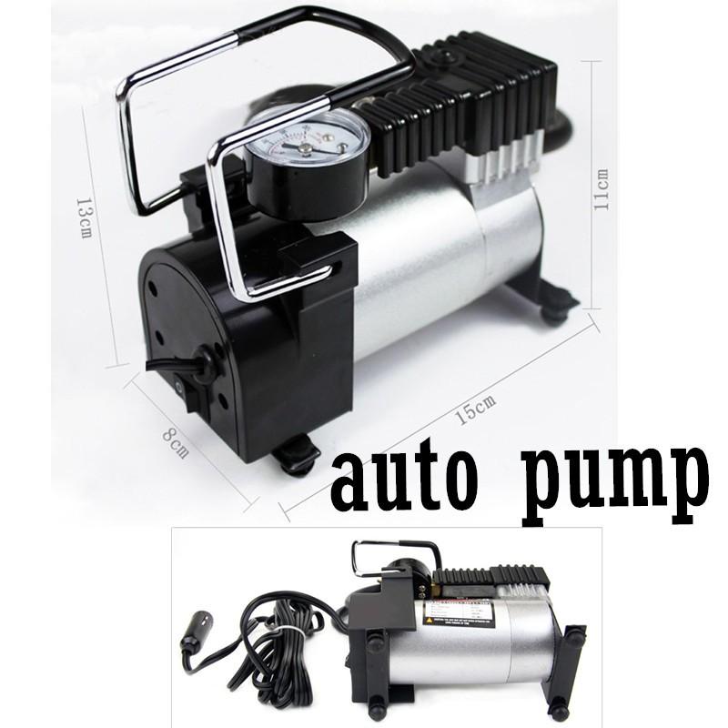 Mini 12V AUTO pump Inflator metal shell with 3 Pneumatic Nozzl Car Air Compressor Electric Tire(China (Mainland))