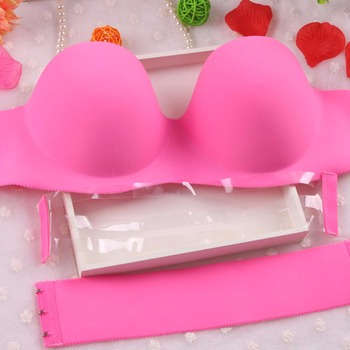 Sexy Self Adhesive Magic Push Up Bra Strapless Invisible Bras Side Closure Bras HJ1