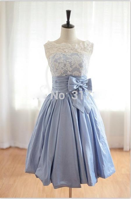 Short Bridiesmaid Dresses Lavender Vintage Taffeta V Back Short Lace Bridesmaid Dresses Brides Maid Dresses Wedding party dress(China (Mainland))