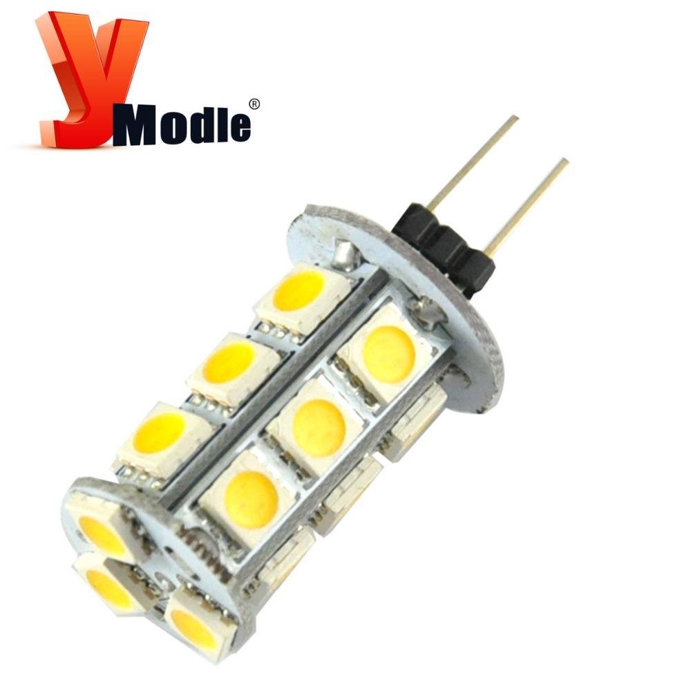 10X G4 18SMD led 5050 18LEDS Crystal Lamps Home Car RV Marine Boat LED Light  Bulb Lamp  5050 led 12V DC G4 LED white #YNY14(China (Mainland))