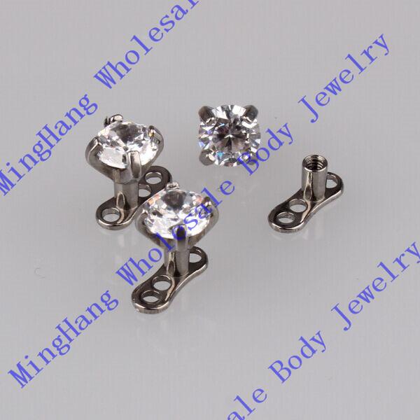 zircon 316l surgical steel micro dermal anchor