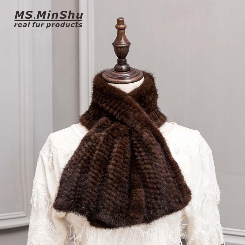 mink fur scarf brown 11
