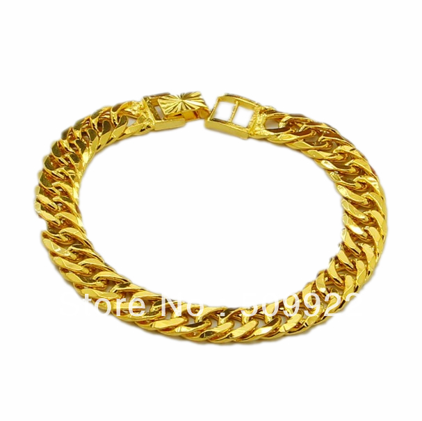 jH013 2013 New Simple Design Men Fashion Jewelry 24K Gold Vacuum Plated Bangle Bracelet Low Price High Quality Jewelry For Men(China (Mainland))