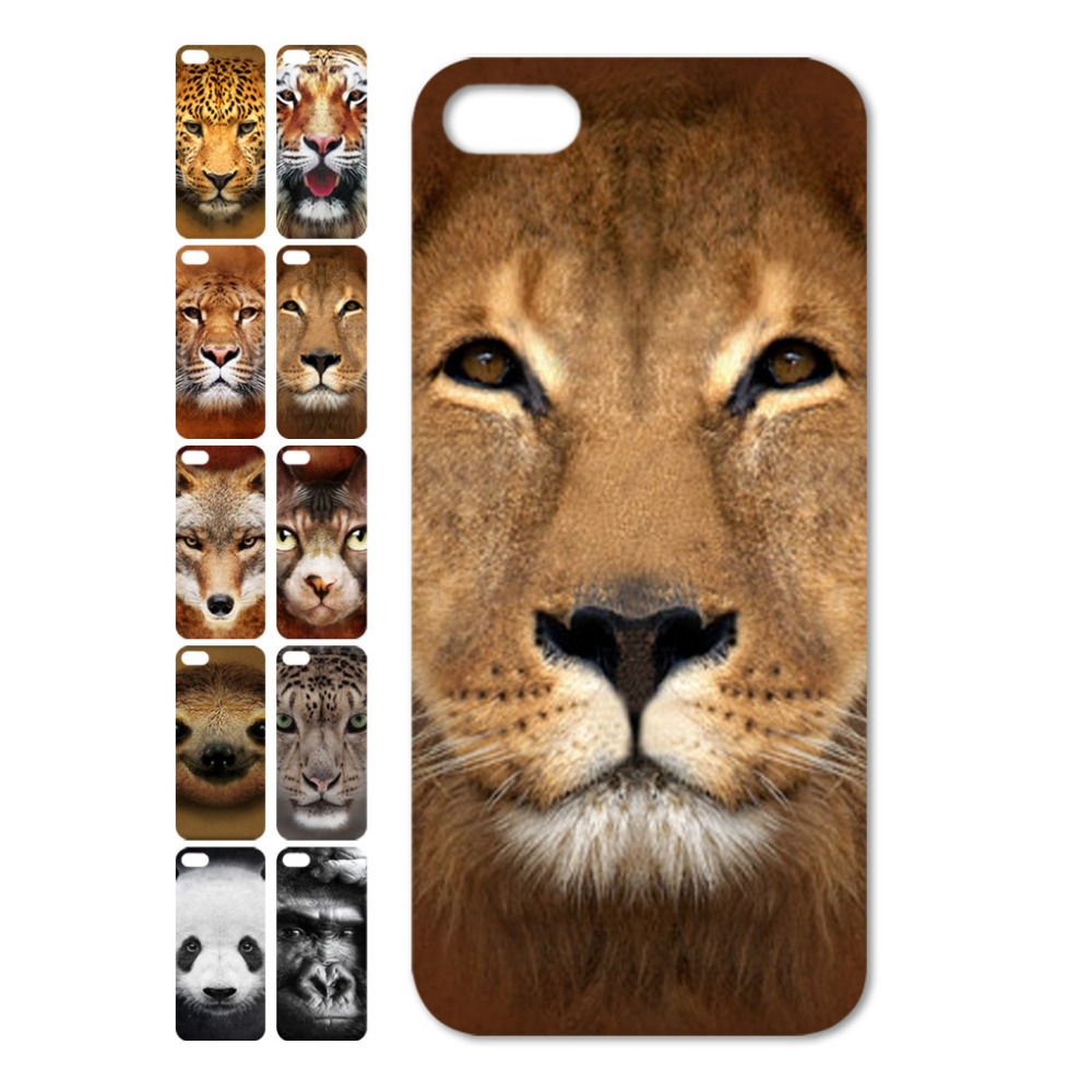 cell phone hard cover cases iphone 6/6s 4.7 6 plus 5.5 wild animals tiger wolf leapord panda etc cute case - Na Liang Store store