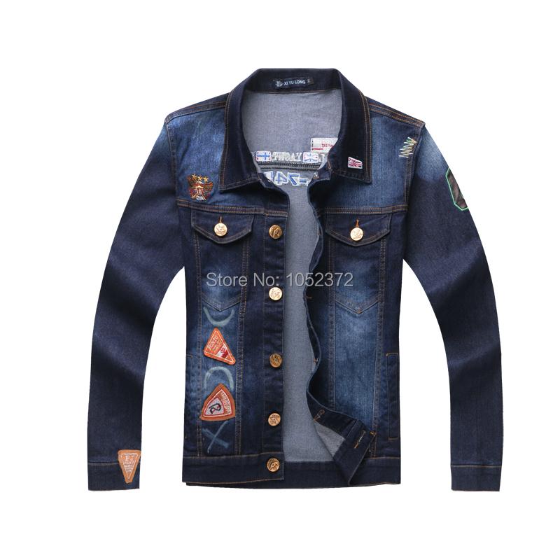 2015 New Casual Mens Coat Man Jeans Jacket Men Slim Denim Jackets for Men Outerwear