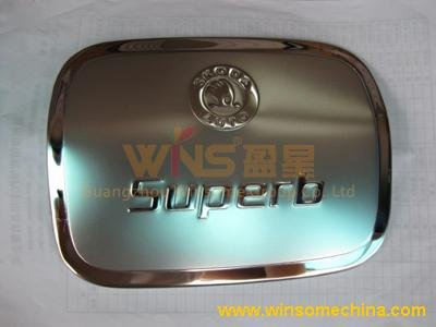 STAINLESS STEEL FUEL/OIL/GAS TANK COVER/CAP FOR SKODA SUPERB 2009(China (Mainland))