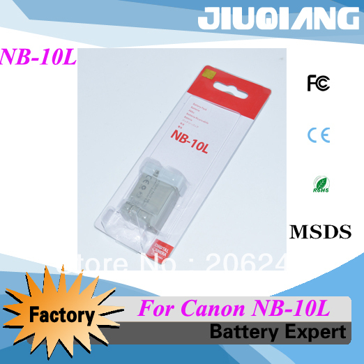 Hot selling camera battery NB-10L for Canon SX50 SX40 HS G1X NB10L NB-10L Free shipping
