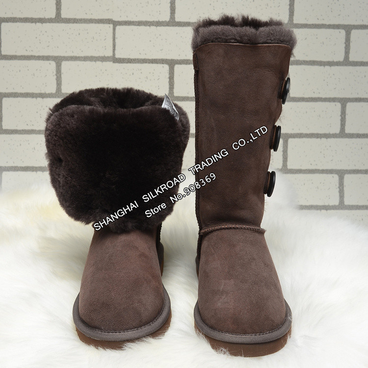 Int'l Brand Women 5803 Sheepskin Snow Boots Real Fur,100% Wool