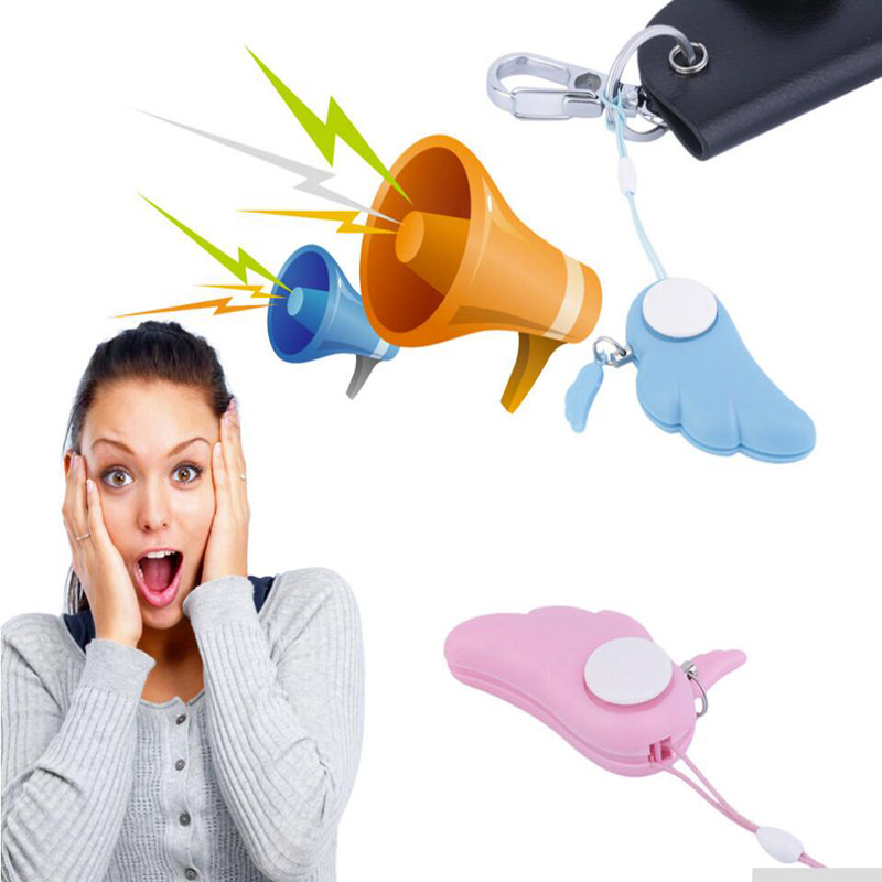 Portable Cute Angel Wing Personal Safety Anti Rape Attack Alarm Panic Protection Tool Free Shipping(China (Mainland))