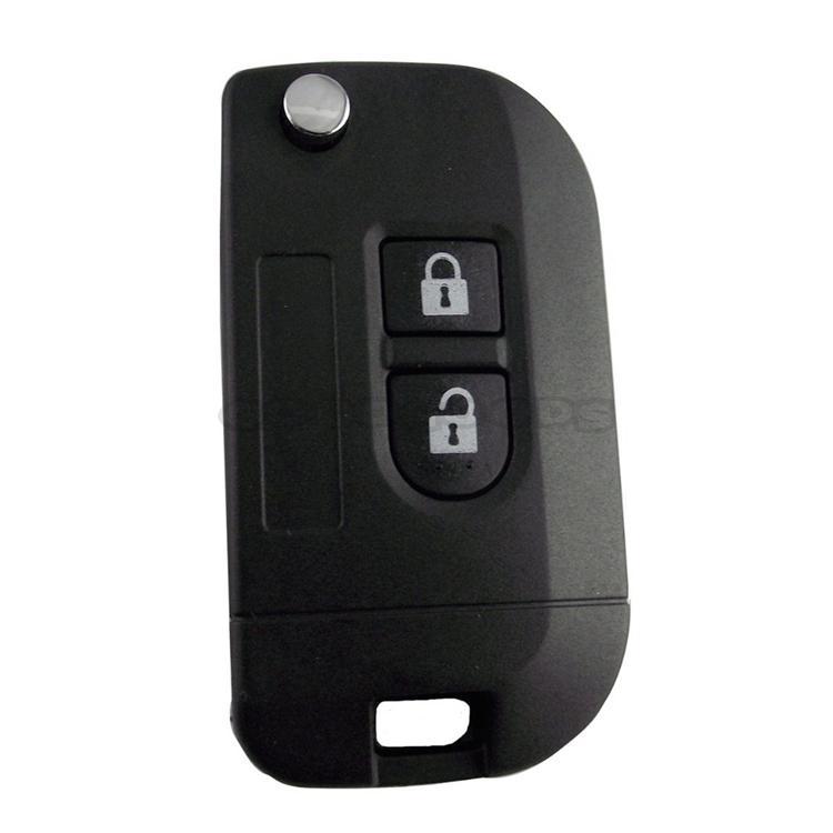 Keyless Entry 2 Buttons New Uncut Flip Folding Remote Key Shell Case Fob for Nissan Micra K12 Note Navara Qashqai Free Shipping(China (Mainland))
