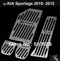 Free Ship for Kia Sportage 2010 2011 2012 MT non-slip Fuel Brake Foot Rest Pedals 4pcs  Aluminum Alloy- Manual Transmission